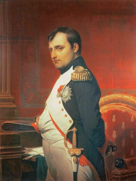 Napoleon (1769-1821) in his Study (oil on canvas)