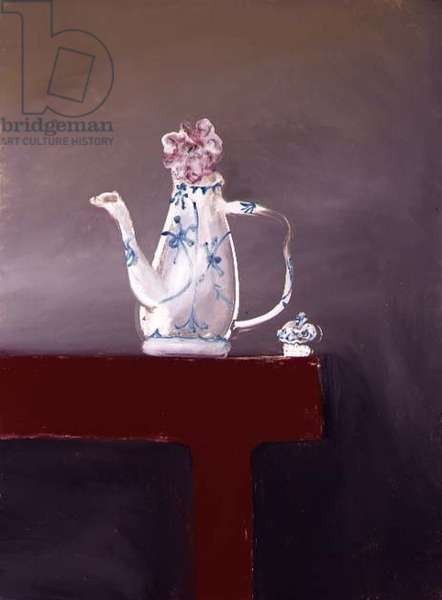 Still Life with Coffee Jug and Rose, c.1978-82 (ripolin on board)