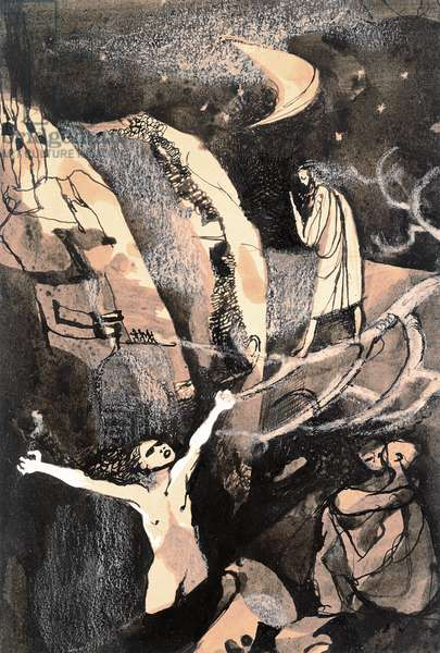 Nuit de l'Enfer (ink & gouache on paper)