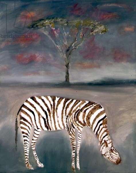 Zebra, 1963 (oil on hardboard)