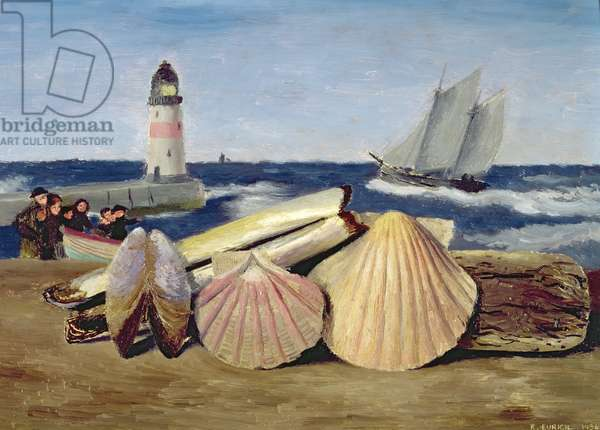 Shells on a Beach, 1934 (oil on canvas)