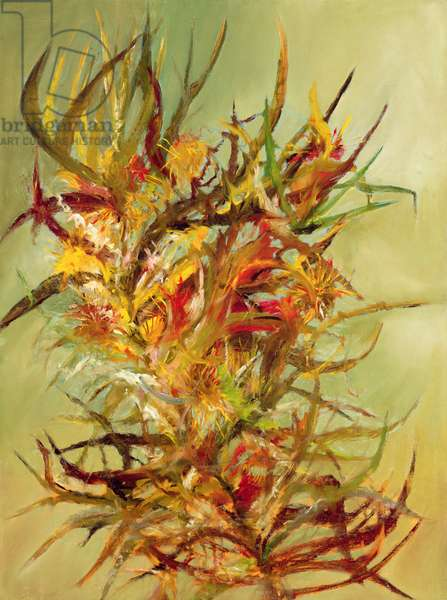 Desert Thorn, 1953 (ripolin and oil on board)