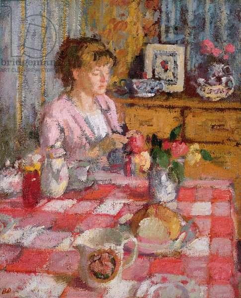The Tea Table (oil on panel)