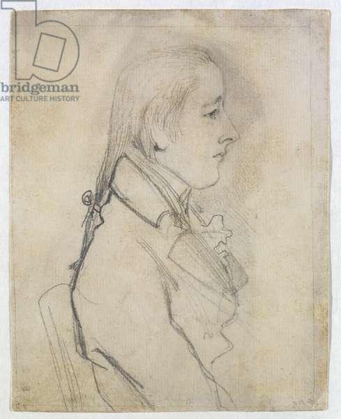 Portrait of William Pitt (chalk on paper)