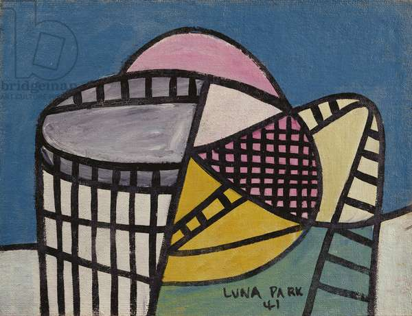 Luna Park, 1941 (ripolin on canvas mounted on board)