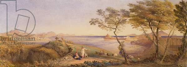 The Bay of Baiae from Monte Nuovo (w/c on paper)