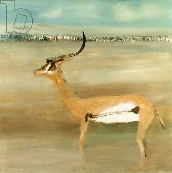 Gazelle, 1963 (oil on board)