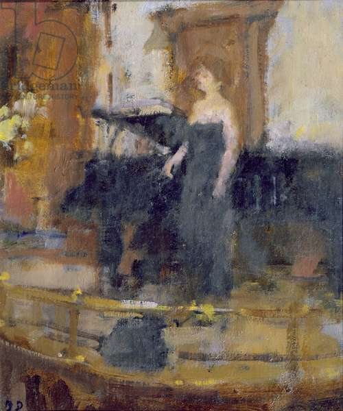 Alice Coote at the Wigmore Hall (oil on canvas)