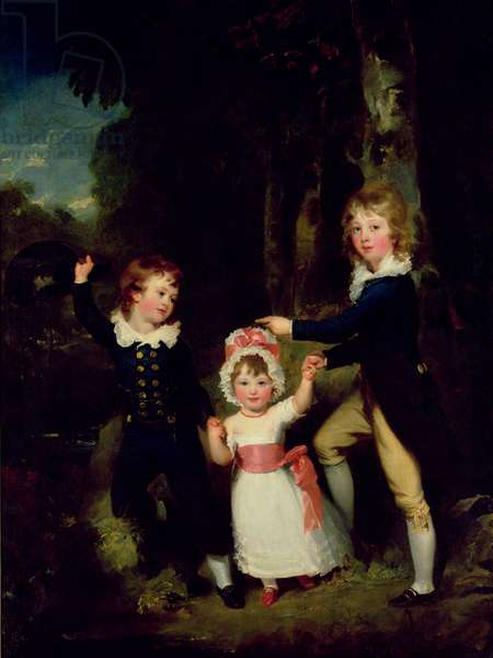 Portrait of the Children of Lord George Cavendish, 1790 (oil on canvas)