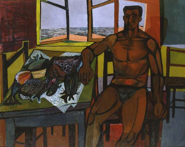 Corsican Fisherman, 1948 (oil on canvas)