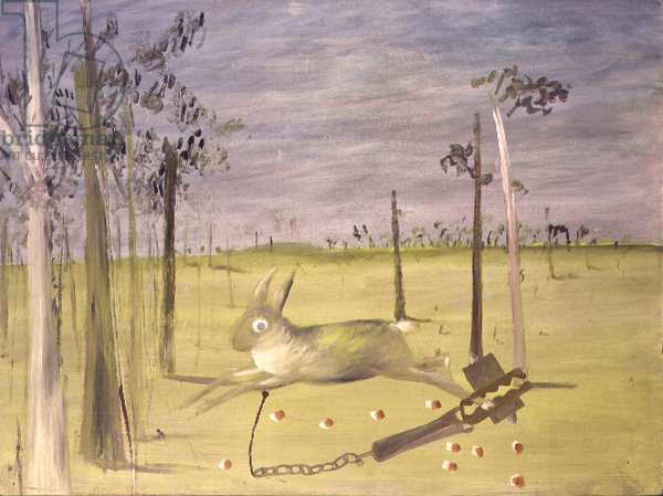 Hare in a Trap, 1946 (ripolin on masonite)