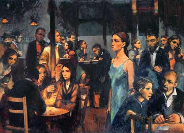 The Bar (oil on canvas)