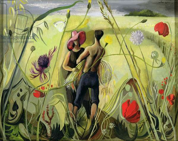 Harvest, 1944 (oil on board)
