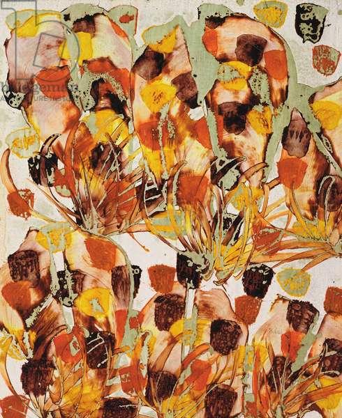 Wild Flowers, c.1970 (textile dye pigment on paper)