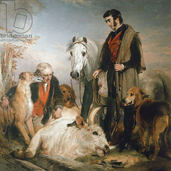 Scene in Chillingham Park: Portrait of Lord Ossulston, c.1833-36 (oil on canvas)