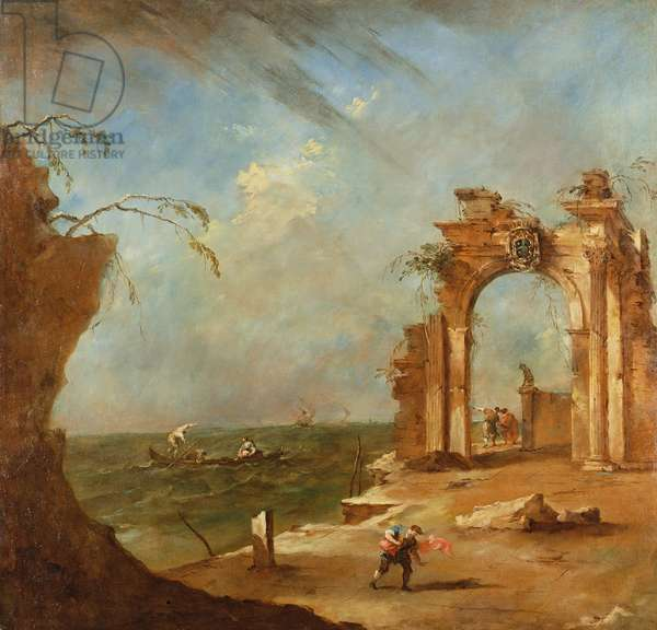 Capriccio with a Ruined Arch (oil)