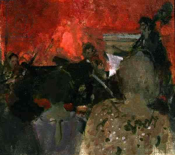 Concert at Sotheby's (oil on canvas)
