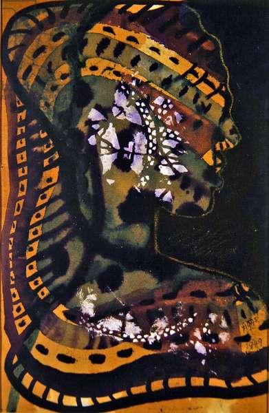 Dark Goddess, 1949 (w/c on paper)