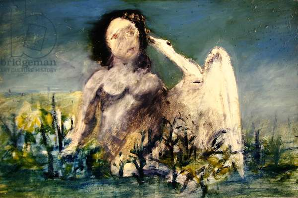 Leda and the Swan, 1945 (oil on canvas)