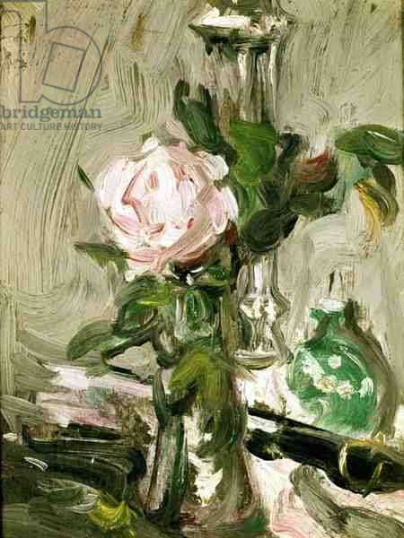 Rose in a Glass (oil on board)