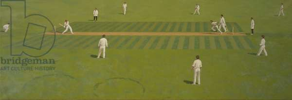 The Cricket Match (oil on canvas)