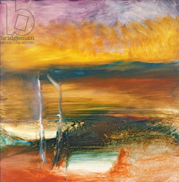 Sunset Landscape, 1964 (oil on board)