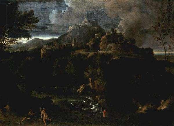 Landscape with Figures (oil)