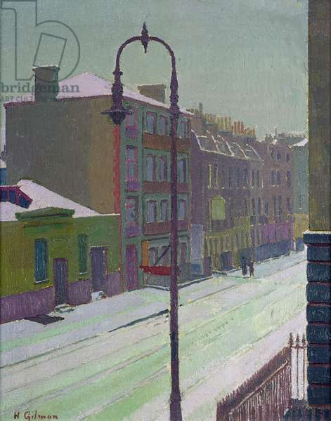 London Street in the Snow, 1917 (oil on canvas)