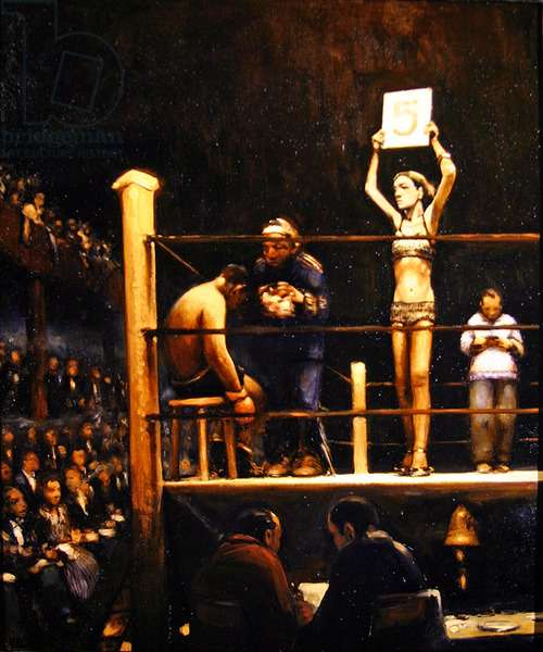 The Boxing Match (oil on canvas)