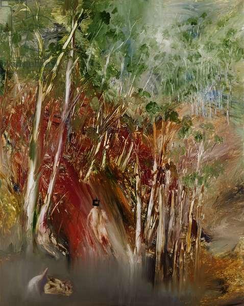 Ned Kelly, 1964 (oil on panel)