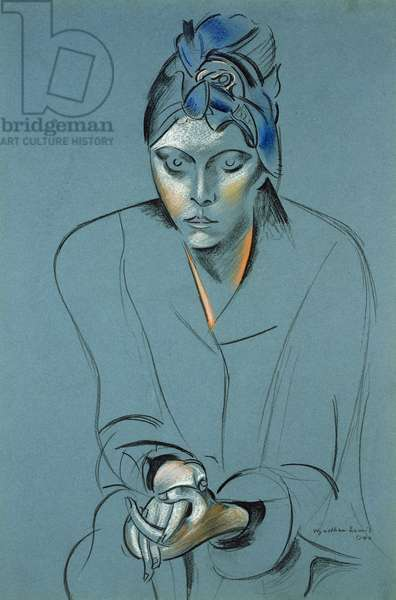 The Artist's Wife, 1940 (pencil & coloured chalk on paper)