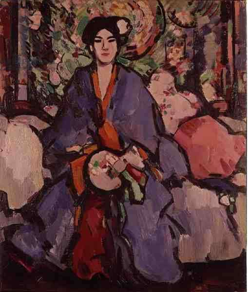 The Blue Kimono (oil on canvas)