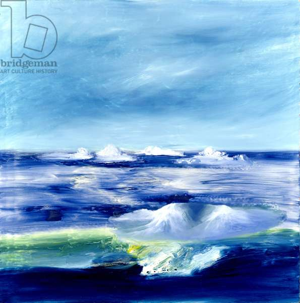 Icebergs, (McMurdo Sound, Antarctica), 1964 (oil on board)
