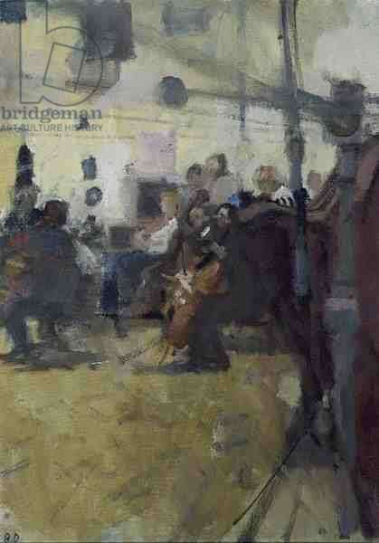 Rehearsal, City of London Sinfonia (oil on canvas)