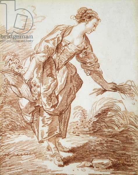 La Jardiniere (red chalk on paper)