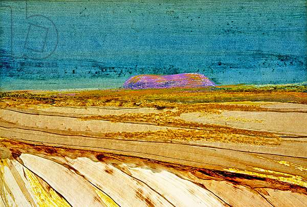 Ayer's Rock, Central Australia, 1970 (ripolin & oil crayon on paper)