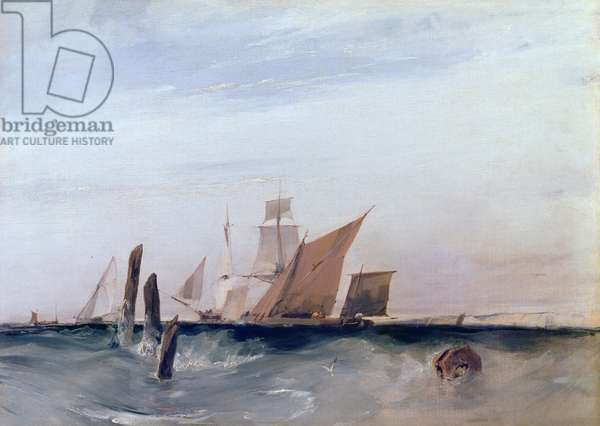 Off the French Coast, c.1820 (w/c on paper)