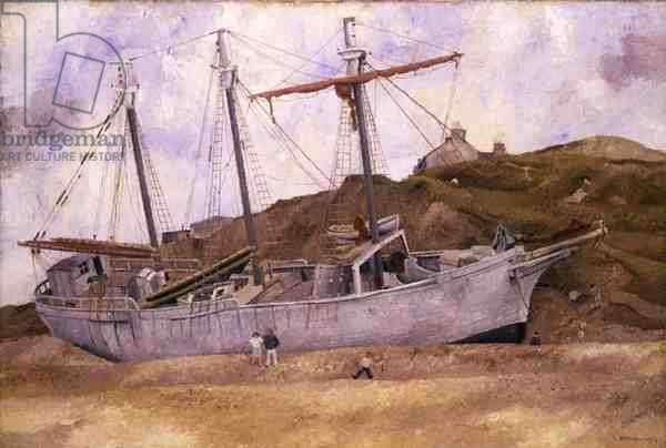 Ship on a Beach, 1934 (oil on canvas)