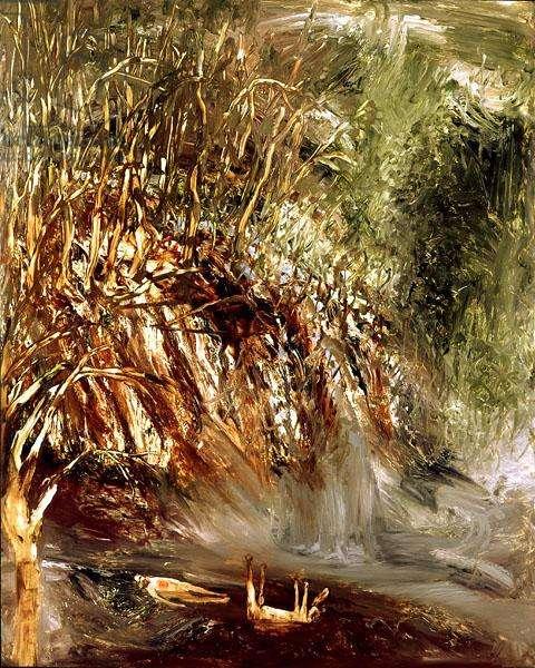 Waterfall, 1964 (oil on board)