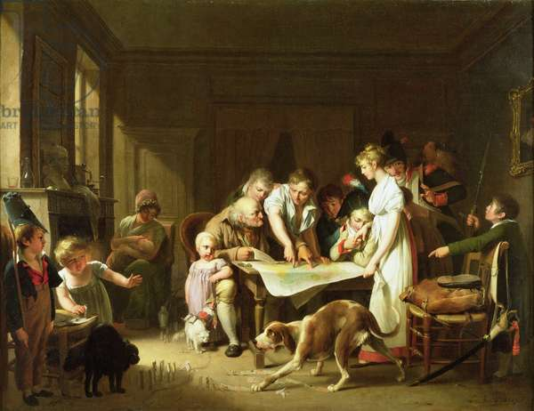 Reading the Army Report, 1807 (oil on canvas)