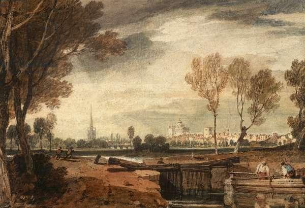 Abingdon, Oxfordshire, c.1805 (w/c on paper)
