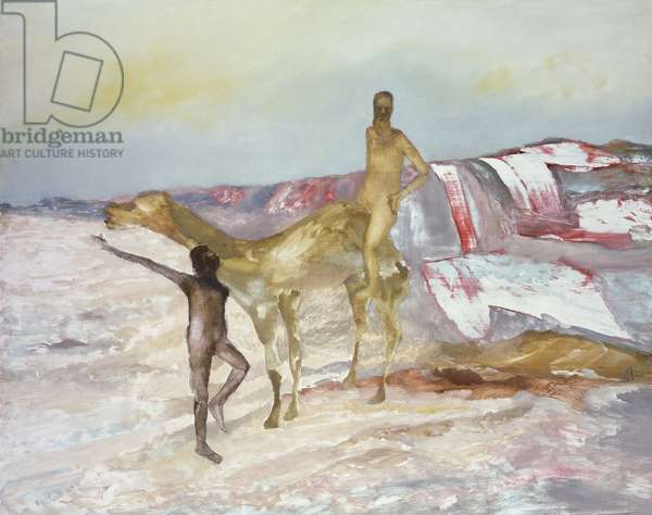 Burke and Wills Expedition, 1962 (enamel & oil on board)