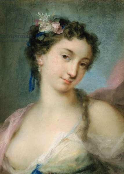 Portrait of a Lady as Flora (pastel on paper)