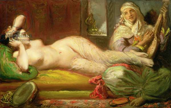 Reclining Odalisque, 1853 (oil on panel)