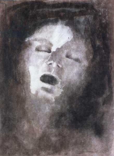 Sleeping, c.1900 (colour litho)