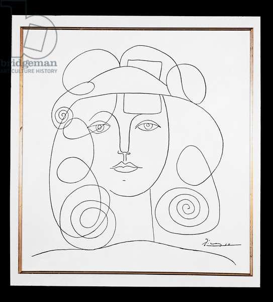 Head of a Girl, c.1950 (litho)