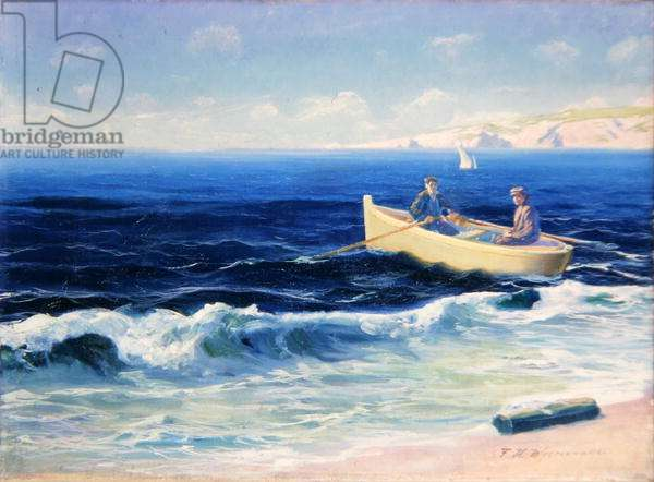 Boat in Seaside Surf, 1939 (oil on canvas)