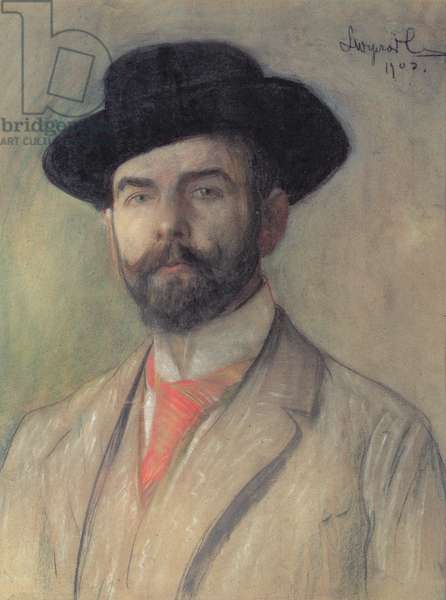 Portrait of Jerzy Warchalowski (1873-1939), 1902 (pastel on board)