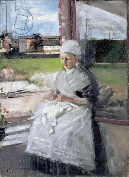 Breton Girl, 1889 (oil on canvas)