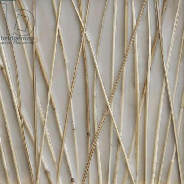 Still, 2010, grass stalks embedded in wax